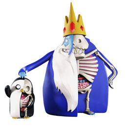 PACK 2 FIGURINES XXRAY ADVENTURE TIME ICE KING & GUNTER 11-21 CM