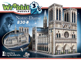 Photo du produit WREBBIT CASTLES & CATHEDRALS COLLECTION PUZZLE 3D NOTRE-DAME DE PARIS (830 PIÈCES) Photo 1