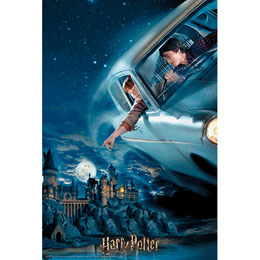 PUZZLE LIVRE LENTICULAIRE HARRY ET RON EN FORD ANGLIA HARRY POTTER 300 PIECES