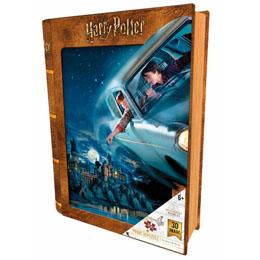 Photo du produit PUZZLE LIVRE LENTICULAIRE HARRY ET RON EN FORD ANGLIA HARRY POTTER 300 PIECES Photo 1