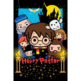 Photo du produit SET PUZZLE LENTICULAIRE CHIBI HARRY POTTER 300 PIECES + PELUCHE HARRY POTTER 20CM Photo 1
