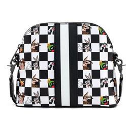Photo du produit LOONEY TUNES BY LOUNGEFLY SAC À BANDOULIÈRE B&W CHECK CHARACTER Photo 2