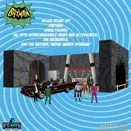 Photo du produit BATMAN CLASSIC TV SERIES FIGURINES 5 POINTS DELUXE BOX SET BATMAN (1966) 9 CM Photo 1