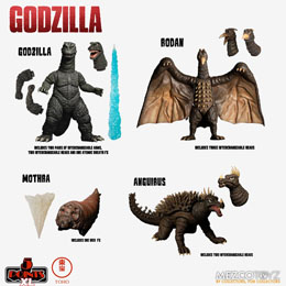GODZILLA LES ENVAHISSEURS ATTAQUENT FIGURINES 5 POINTS XL DELUXE BOX SET ROUND 1 11 CM