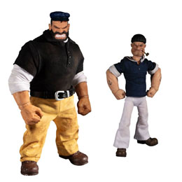 POPEYE FIGURINES 1/12 POPEYE & BLUTO STORMY SEAS AHEAD DELUXE BOX SET