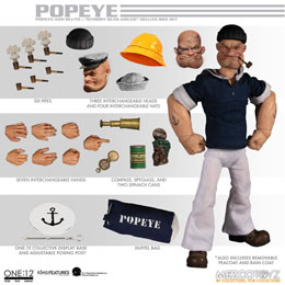 Photo du produit POPEYE FIGURINES 1/12 POPEYE & BLUTO STORMY SEAS AHEAD DELUXE BOX SET Photo 1
