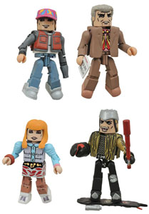 RETOUR VERS LE FUTUR PACK 4 FIGURINES MINIMATES 30TH ANNIVERSARY HILL VALLEY