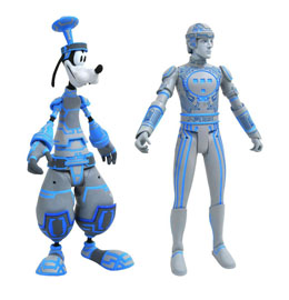 KINGDOM HEARTS SELECT PACK 2 FIGURINES GOOFY & TRON 18 CM