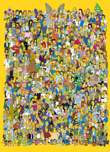 Photo du produit SIMPSONS PUZZLE CAST OF THOUSANDS (1000 PIÈCES) Photo 1