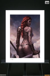 Photo du produit RED SONJA IMPRESSION ART PRINT BIRTH OF THE SHE-DEVIL (PRE-BATTLE VERSION) 46 X 61 CM - NON ENCADRÉE Photo 1