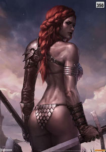 Photo du produit RED SONJA IMPRESSION ART PRINT BIRTH OF THE SHE-DEVIL (PRE-BATTLE VERSION) 46 X 61 CM - NON ENCADRÉE Photo 2