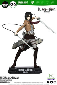 ATTACK ON TITAN FIGURINE COLOR TOPS MIKASA ACKERMAN 18 CM