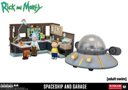 RICK ET MORTY JEU DE CONSTRUCTION LARGE SPACESHIP & GARAGE