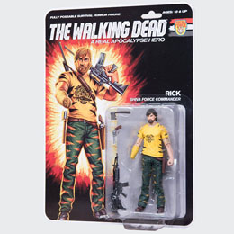 THE WALKING DEAD FIGURINE SHIVA FORCE COMMANDER RICK  (COLOR) 13 CM