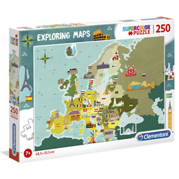 PUZZLE GREAT PLACES IN EUROPE EXPLORING MAPS 250 PIÈCES