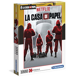 LA CASA DE PAPEL PUZZLE SUITS 1000 PIECES