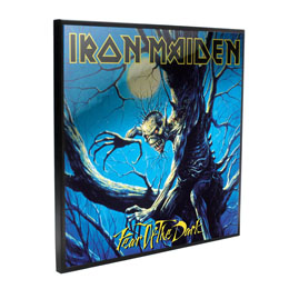 IRON MAIDEN DÉCORATION MURALE CRYSTAL CLEAR PICTURE FEAR OF THE DARK 32 X 32 CM