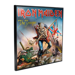 IRON MAIDEN DÉCORATION MURALE CRYSTAL CLEAR PICTURE THE TROOPER 32 X 32 CM