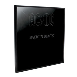 AC/DC DÉCORATION MURALE CRYSTAL CLEAR PICTURE BACK IN BLACK 32 X 32 CM