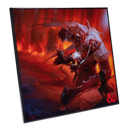 DUNGEONS & DRAGONS DÉCORATION MURALE CRYSTAL CLEAR PICTURE PLAYERS HANDBOOK 32 X 32 CM