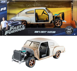 FAST & FURIOUS 8 1/24 DOM'S CHEVROLET FLEETLINE METAL