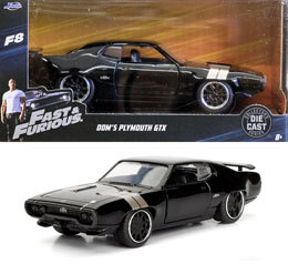 FAST & FURIOUS 8 1/32 DOM'S PLYMOUTH GTX METAL