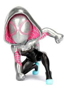 MARVEL METALS FIGURINE DIECAST SPIDER-MAN GWEN CHROME 10 CM