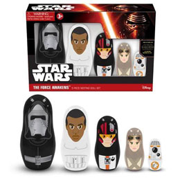 Photo du produit COFFRET STAR WARS 5 FIGURINES MATRIOCHKA POUPEES RUSSES STAR WARS EPISODE 7 Photo 1