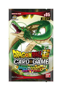 DRAGONBALL SUPER CARD GAME SEASON 5 24 BOOSTERS + PRÉSENTOIR BOOSTERS MIRACULOUS REVIVAL