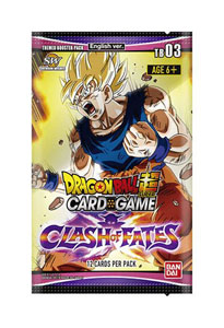DRAGON BALL SCG SEASON 3 24 BOOSTER + PRÉSENTOIR BOOSTERS THEMED CLASH OF FATE