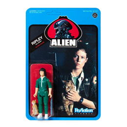 ALIENS WAVE 3 FIGURINE REACTION RIPLEY WITH JONESY (BLUE CARD) 10 CM - SUPER