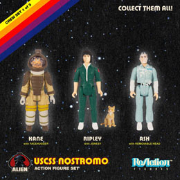 Photo du produit ALIEN PACK 3 FIGURINES REACTION PACK A 10 CM Photo 1
