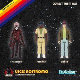 Photo du produit ALIEN PACK 3 FIGURINES REACTION PACK B 10 CM Photo 1