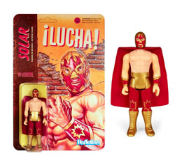 LEGENDS OF LUCHA LIBRE FIGURINE REACTION SOLAR / SUPER7