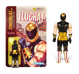 LEGENDS OF LUCHA LIBRE FIGURINE REACTION TINIEBLAS JR. / SUPER7