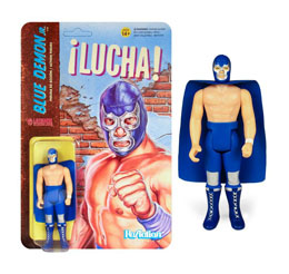 LEGENDS OF LUCHA LIBRE FIGURINE REACTION BLUE DEMON JR. / SUPER7