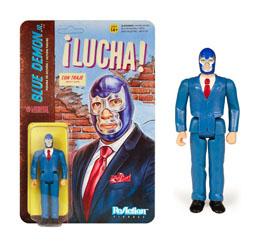 LEGENDS OF LUCHA LIBRE FIGURINE REACTION BLUE DEMON JR. IN SUIT 10 CM / SUPER7