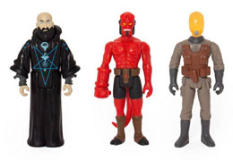 Photo du produit HELLBOY REACTION PACK 3 FIGURINES PACK B HELLBOY W/O HORNS, RASPUTIN, JOHANN KRAUS  Photo 1