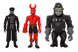Photo du produit HELLBOY REACTION PACK 3 FIGURINES PACK A HELLBOY W/HORNS, KARL KROENEN, KRIEGAFFE APE Photo 1