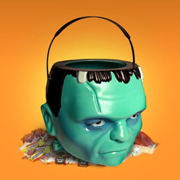 UNIVERSAL MONSTERS SEAU DE HALLOWEEN FRANKENSTEIN 18 CM
