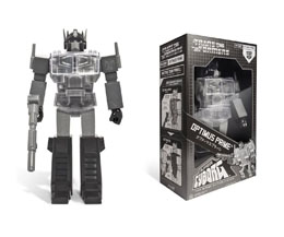 TRANSFORMERS FIGURINE SUPER CYBORG OPTIMUS PRIME BLACK 30 CM