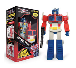 TRANSFORMERS FIGURINE SUPER CYBORG OPTIMUS PRIME (G1) CARTOON 30 CM
