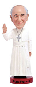 FIGURINE ROYAL BOBBLES POPE FRANCIS BOBBLE HEAD