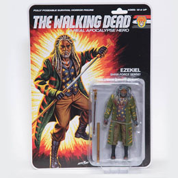 THE WALKING DEAD FIGURINE SHIVA FORCE SENSEI EZEKIEL (BLOODY) 13 CM