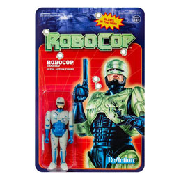 ROBOCOP FIGURINE SUPER7 REACTION ROBOCOP BATTLE DAMAGED (GLOW IN THE DARK) 10 CM
