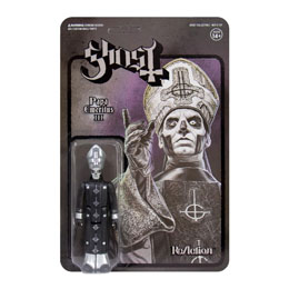 GHOST FIGURINE REACTION PAPA EMERITUS III (BLACK SERIES) 10 CM - SUPER7
