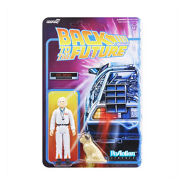 FIGURINE REACTION SUPER7 RETOUR VERS LE FUTUR DOC BROWN 10 CM