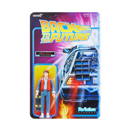 FIGURINE REACTION SUPER7 RETOUR VERS LE FUTUR MARTY MCFLY 10 CM