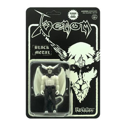 Photo du produit VENOM FIGURINE SUPER7 REACTION BLACK METAL (GLOW IN THE DARK) 10 CM Photo 1