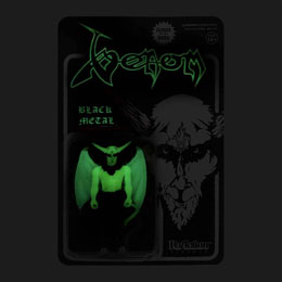 Photo du produit VENOM FIGURINE SUPER7 REACTION BLACK METAL (GLOW IN THE DARK) 10 CM Photo 2